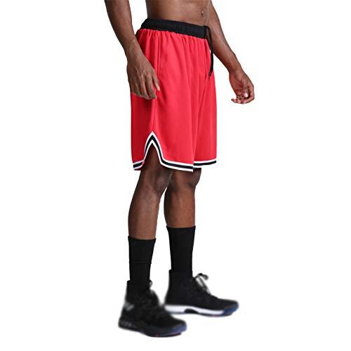 Vanvene Herren-Sportshorts – schnelltrocknend, lockere Passform, Basketball-Shorts Gr. XXL, rot