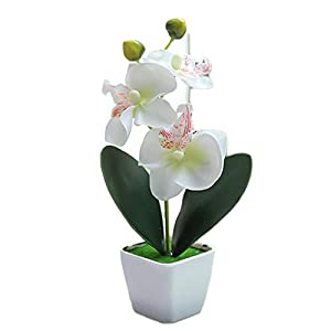 Kudiro Simulation Flower Bougainvillea Artificial Plant Living Room Flower Mini Living Room Kitchen Bedroom Dining Room Decoration (White+Pink)