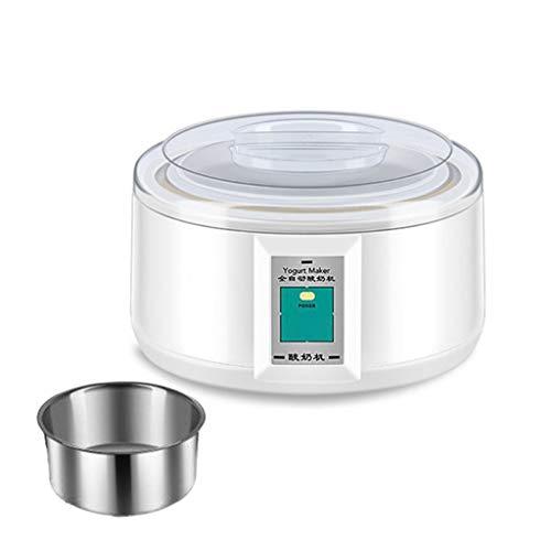 ZCJUX Electric 1.5L Yogurt Maker Automático DIY Herramienta Yoguro Contenedor Hogar Cocina Hornear Máquina Mini Electrodomésticos (Color : A)
