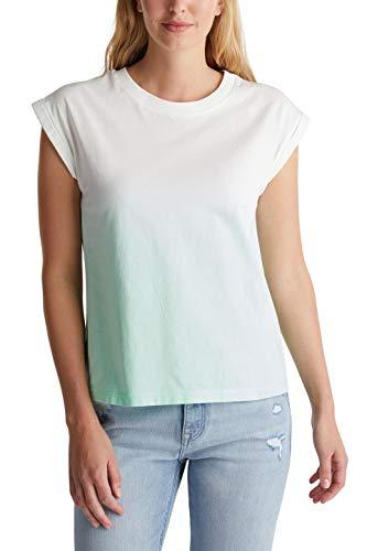 edc by Esprit 050CC1K304 Camiseta, 330/verde Claro, XS para Mujer