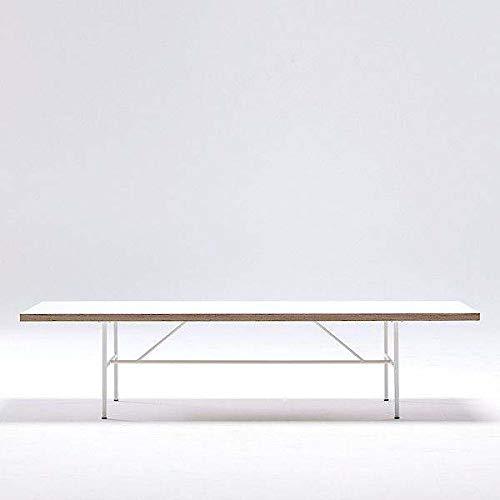 mds La Table Basse SARA par Hay : Le Design Nordique Pur et Simple - Stratifié Blanc, Chants en multiplis, piétement laqué Blanc Epoxy