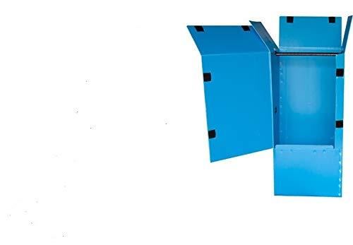 引越・保管用プラスチックハンガーボックス(ブルー)1枚 ※個人様宅は配送不可です