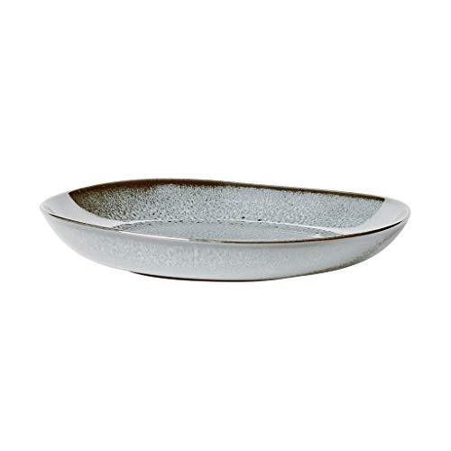 like. by Villeroy & Boch - Lave glacé Schale flach, 28 x 27 x 4,3 cm, schöne Schale aus Steingut für Beilagen und größere Gerichte, spülmaschin- und mikrowellengeeignet