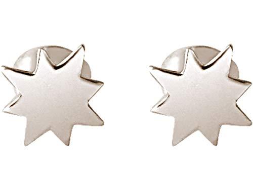 Gemshine Ohrringe Maritim Nautic Konstellation Ohrstecker Nordstern Polarstern aus 925 Silber, hochwertig vergoldet oder rose im Navy Stil - Made in Madrid, Spain, Metall Farbe:Silber