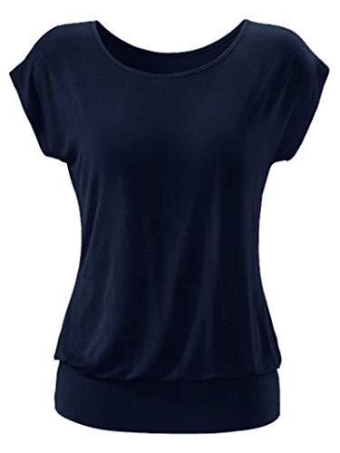 SLYZ 2021 Señoras Primavera Y Verano Algodón Estampado De Lunares Camiseta Corta Casual Mujer
