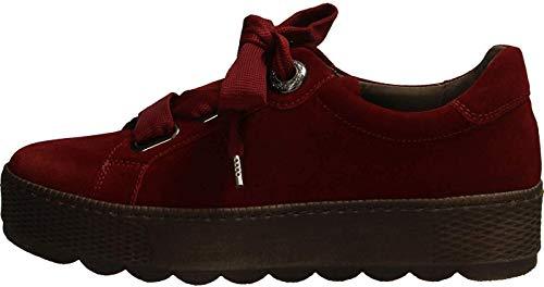 Gabor Damen Low-Top Sneaker 36.535, Frauen Sneaker,Halbschuh,Schnürschuh,Strassenschuh,Business,Freizeit,Dark-Opera,37.5 EU / 4.5 UK