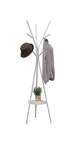 standing coat rack with shelf - 8