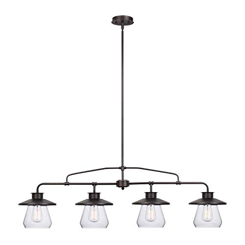 Globe Electric 65382 Nate 4-Light Pendant, Oil Rubbed...