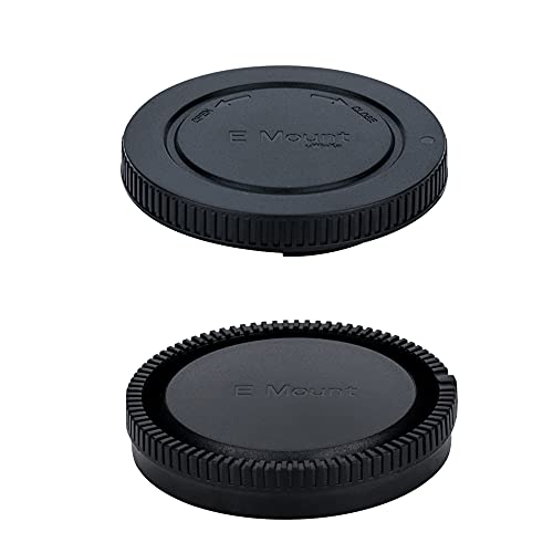 E-Mount Body Cap and Rear Lens Cap Cover Kit for...