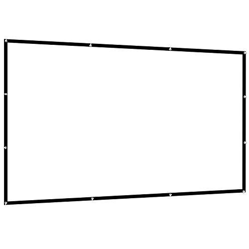 Dawoo Écran De Projecteur, Écran De Projecteur Portable Pliable Anti-Froissement 16: 9 HD De 100 Pouces pour Projection Avant Et Arrière De Théâtres Intérieurs Et Extérieurs