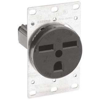 Leviton 5372 Electrical Outlet, 30A 250V NEMA 6-30R Receptacle Industrial Grade - Black