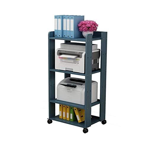 WBJLG Soportes de Escritorio para Impresora Soporte para Impresora de 4 Capas, Estante para Impresora móvil, Utilizado en la Sala de Estar de la Oficina, máquina de fax, Soporte para escáner, 50 ×