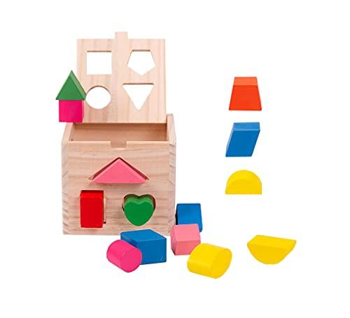 Yx-outdoor Juguetes de Madera Que Combinan con Formas geométricas, estimulan la Capacidad de Pensamiento de su bebé, ayudas didácticas educativas de matemáticas Montessori