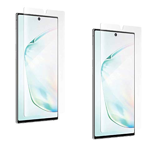 ZAGG Samsung Note 10 Plus Screen Protector 2 PACK InvisibleShield Ultra Clear Shatter Protection Glass Like