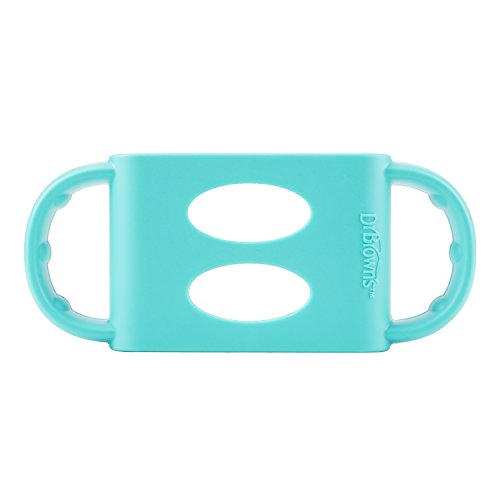 Dr. Brown's 100% Silicone Wide-Neck Baby Bottle Handles, Turquoise