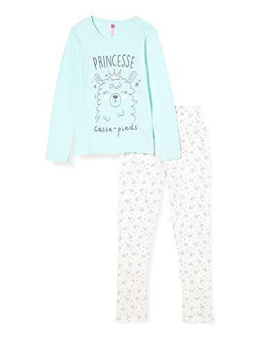 Lina Pink EF.Prin.pl Juego de Pijama, Aqua, 10 ANS para Niñas