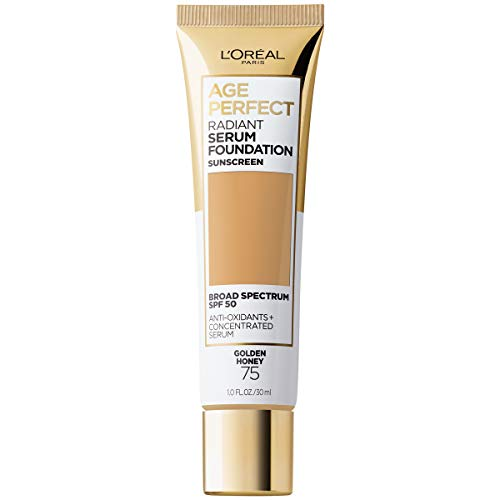 L'Oreal Paris Age Perfect Radiant Serum Foundation with SPF 50, Golden Honey, 1 Ounce