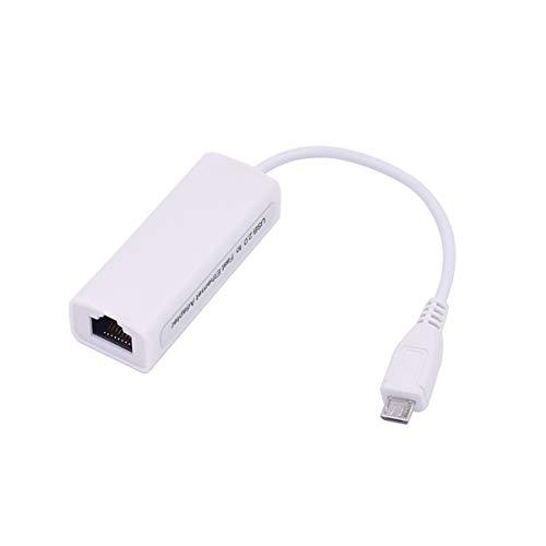 healthwen Interfaz de cable micro USB a Ethernet Adaptador Ethernet OTG Internet con cable Android Tablet PC Tarjeta de red
