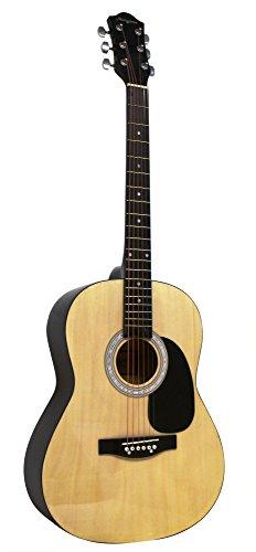 Guitarra Acústica de Martin Smith con Cuerdas de Guitarra, Púas de Guitarra y Correa de Guitarra - Natural