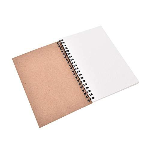 Bodhi200 0 cuadernos en espiral de cubierta suave, bloc de bocetos en blanco, bloc de notas de notas, agenda de cuaderno planificador con papel sin forro estilo 1