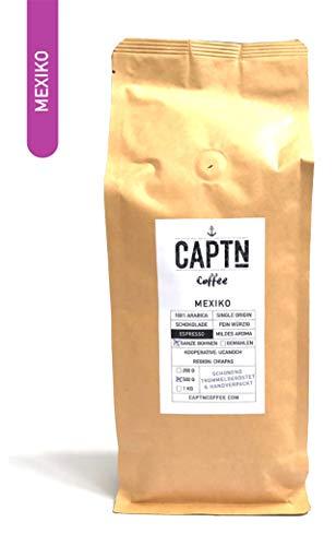 Mexiko Espresso-Bohnen Ganz   100 % Arabica Single Origin   500 G   Fair Gehandelt   Schonende Röstung   Vollautomaten