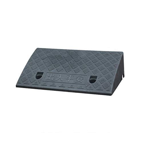 CJXing-Slope pad Tragbare 7cm Rampen Matte, Kunststoff Anti-Rutsch-Matte Schritt Startseite Behinderte Rollstuhl-Rampen Outdoor Car Uphill Mat (Color : Black, Size : 49.5 * 27 * 7CM)