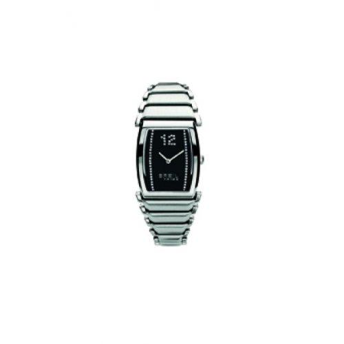 BREIL Damen Analog Quarz Uhr mit Edelstahl Armband TW0524_Negro