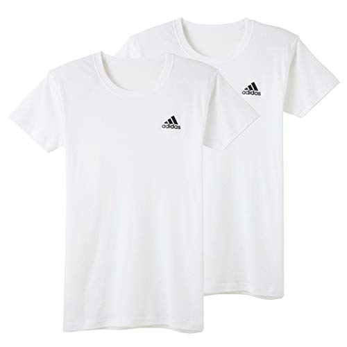アディダス 半袖 Tシャツ インナー キッズ ジュニア 男の子 2枚組 クルーネック ルームウェア パジャマ