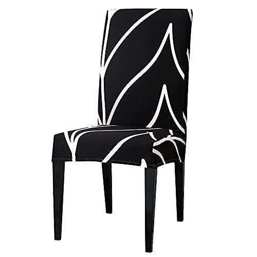 Funda elástica Impresa para Silla elástica Spandex Comedor Cocina Fundas para sillas Protector para Banquete de Boda A13 4 Uds