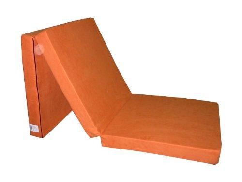 Natalia Spzoo Natalia Spzoo Cama de invitados, colchón plegable 195 x 65 x 8 cm (Naranja)