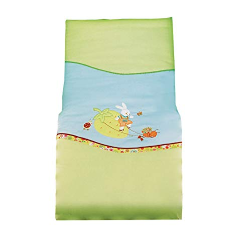 Picci Baby Parure de lit 2 pièces avec housse de coussin et couverture, motif 14 bouquet Bleu clair