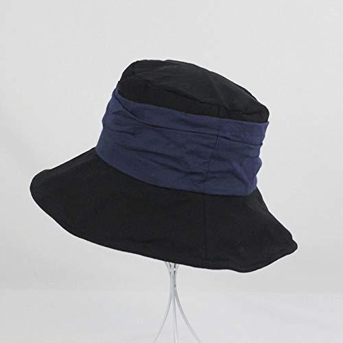 Zomer mooie wastafel hoed vouw wilde zonnebrandcrème vissershoed grote dakrand buiten zonnehoed