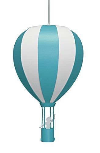 Hängeleuchte für Kinder, Motiv Heißluftballon, türkis