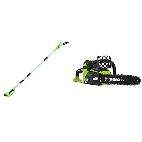 Great Deal! Greenworks 8' 40V Cordless Pole Saw, Battery Not Included 20302 with 16-Inch 40V Cordles...