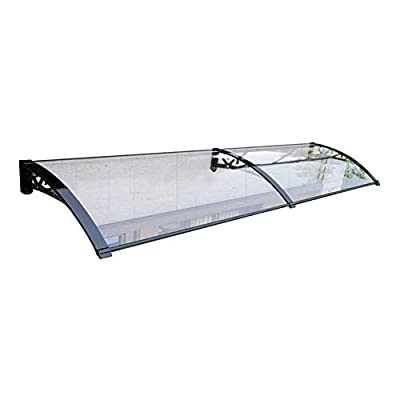 LPD Door Canopy Awning Window Rain Shelter Cover Outdoor Garden Door Canopy Patio Door Awning for Garden Porch Window Garage (Color : Clear-B, Size : 60cmx120cm)