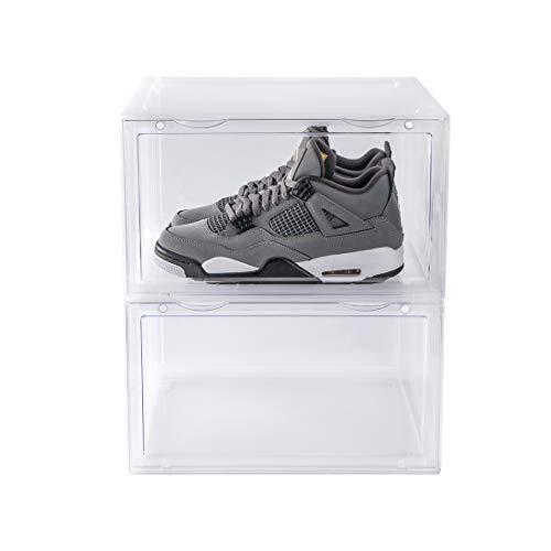 peinat Organizador Zapatos Plásticas, 1 Pcs Cajas para ZapatosTransparente Apilable y Impermeable,...