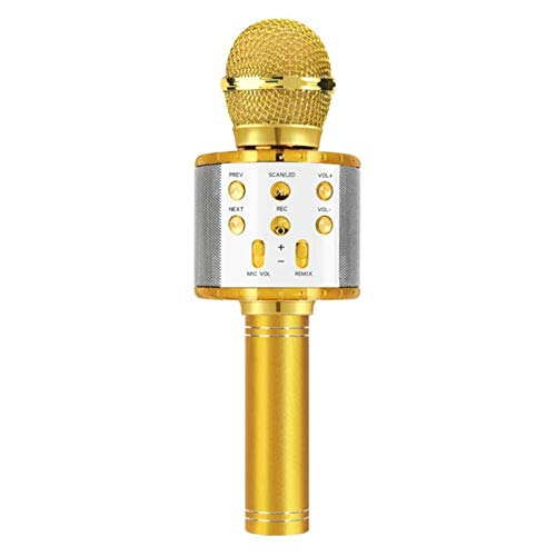 Adesign Karaoke Microphone for Kids, Portable Handheld Wireless Bluetooth Microphone, 4 in 1 Kids Microphone, Compatible with Android&iOS for Home/Party (Color : B)