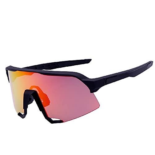 Huguo Gafas de Ciclismo al Aire Libre Gafas de Sol para Bicicleta UV400 Gafas polarizadas a Prueba de Viento y Juego de Gafas de Sol para Hombre a Prueba de Arena