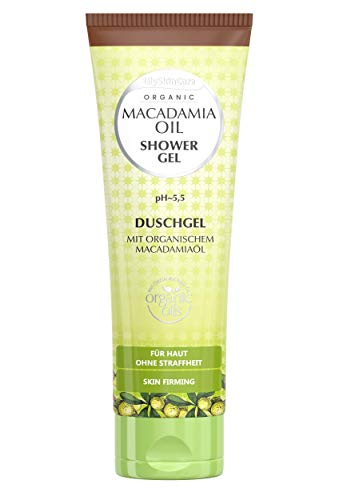 GlySkinCare Duschgel mit Organischem Macadamiaöl, Duschgel Für Straffloser Haut, Duschgel 250 ml mit süßem Duftstoff by Equalan Pharma.