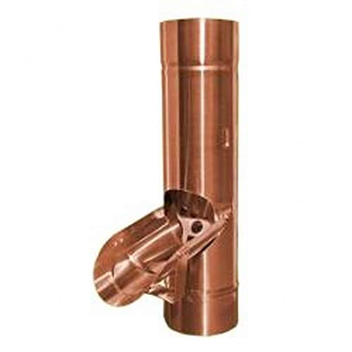Regenrohrklappe mit Sieb Kupfer in den Größen 76, 80, 87 und 100 mm (100 mm)