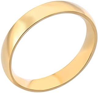 خاتم (دبلة خطوبة وزواج) مطلي ذهبية عيار 22K مقاس أمريكي 6
