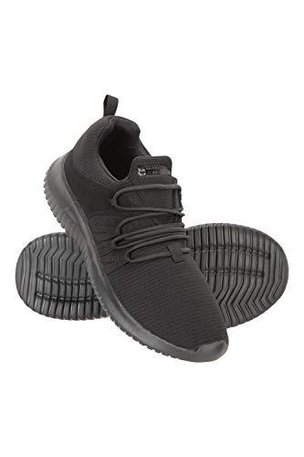 Mountain Warehouse Swift Womens Active Shoes – Atmungsaktive Damenschuhe, leichte Turnschuhe, Eva-Fußbetttrainer – für Sport, Laufen, Sommer, Trekking, Wandern Schwarz 38 EU