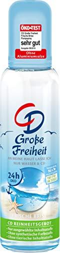 CD Deo Zerstäuber 'Große Freiheit', Deodorant ohne Aluminiumsalze, 24 h langanhaltender Schutz, für empfindliche Haut geeignet, vegane Körperpflege, 75 ml