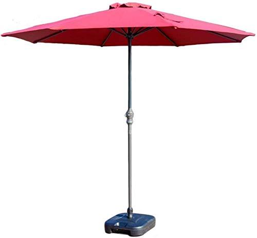 Sombrilla de mesa de mercado de 9 pies para patio / patio al aire libre con manivela, poliéster impermeable Anti-UV y poste de hierro resistente Sombrilla para exteriores Sombrillas para exteriores