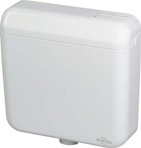 Evenes WC Aufputz Spülkasten mit 2-Mengen weiss tiefhängend 420x390x135 mm WC Bad Badezimmer