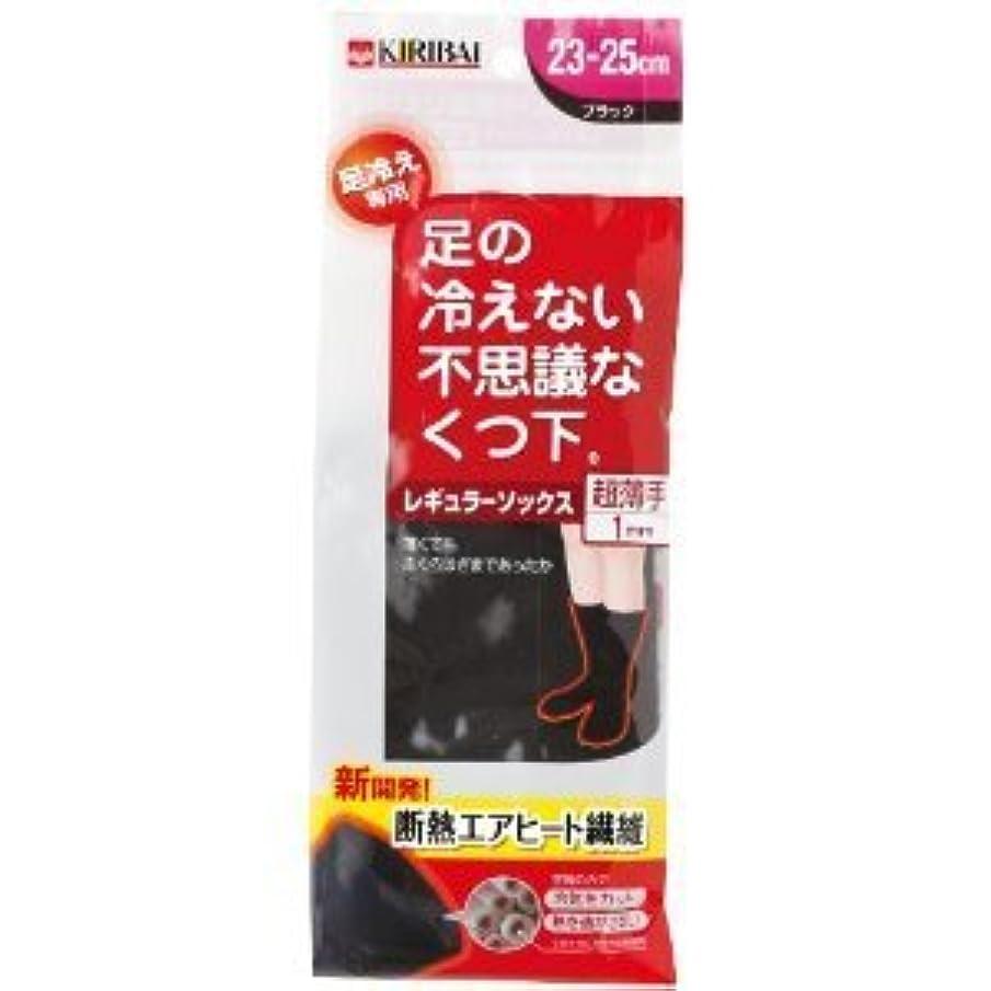 ソファー水素不規則な足の冷えない不思議なくつ下 レギュラーソックス 超薄手 ブラック 23-25cm×2個