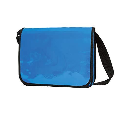 Messenger Bag aus LKW Plane Planentasche Kuriertasche mit Überwurf und optionalem Laptop Inlay Notebook Inlet in vielen Farben von notrash2003 (Cyan)