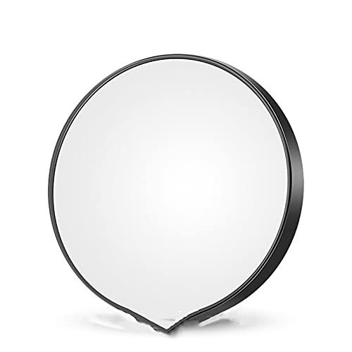 XBF-TOOL, 1pc 5 Fois 10 Fois en Verre Petit Miroir Rond avec Ventouse Miroir de Maquillage de Ventouse 8.8cm Loupe de Poche de diamètre (Couleur : 10X Black, Taille : 8.8cm)