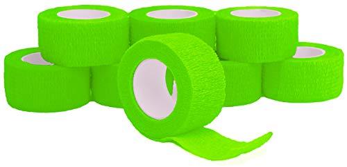 Fingerverband, Fingerpflaster, Selbsthaftende Fingerbandagen, Pflaster 2,5 cm breit, grün - 8 Stück