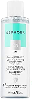 SEPHORA Triple Action Cleansing Water - Cleanse + Purify